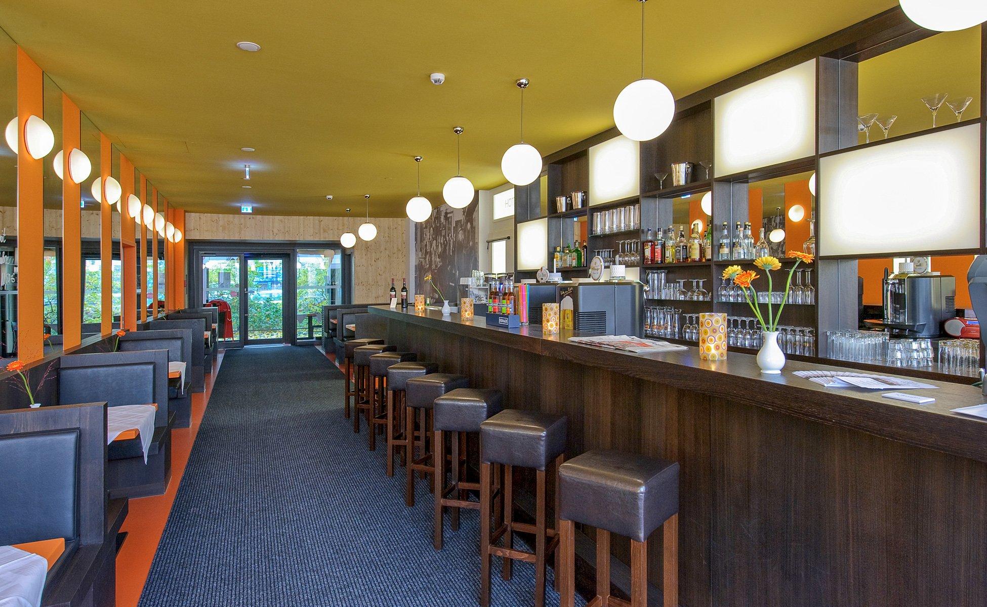 Hotel-Grenzfall Restaurant mit Cocktailbar