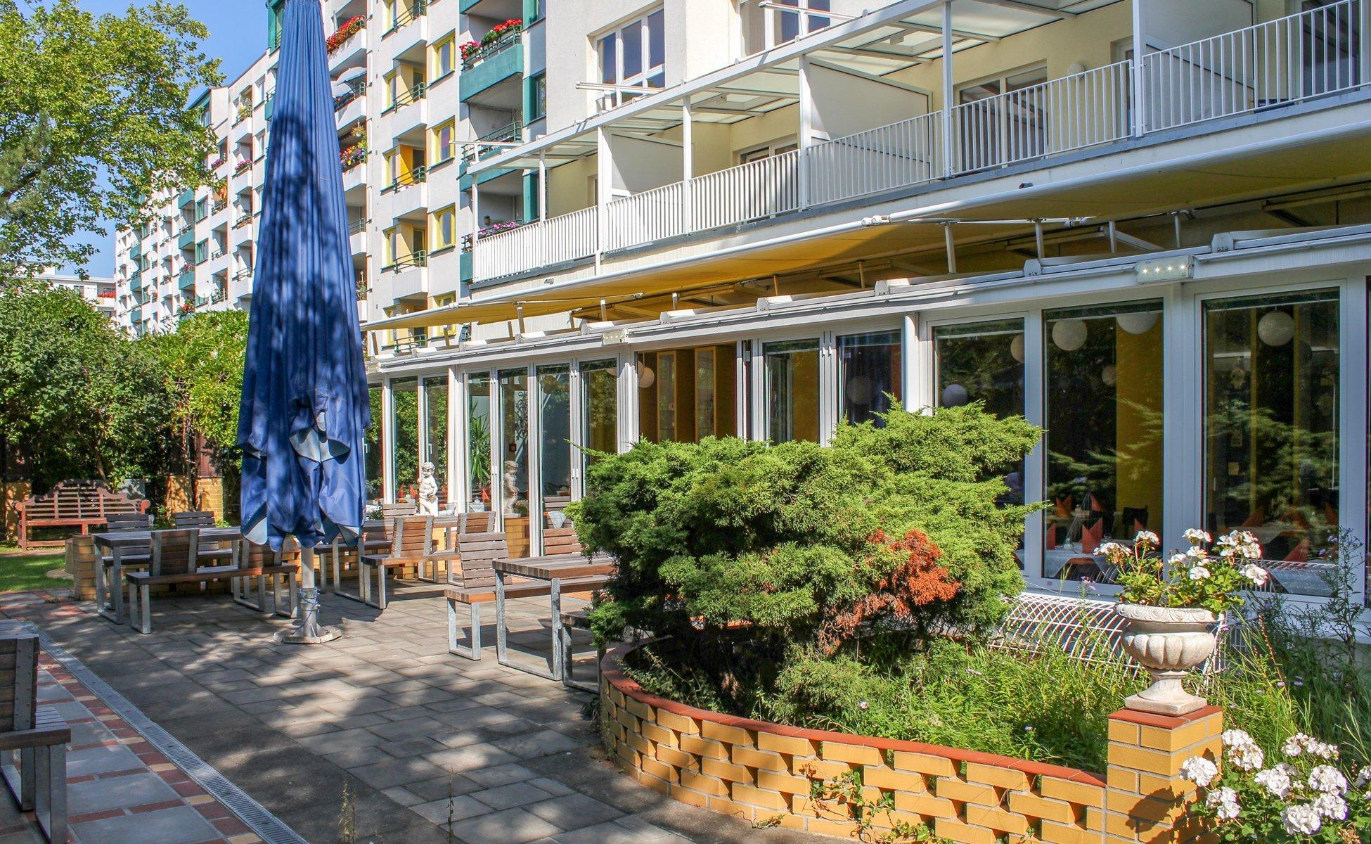 Hotel Grenzfall Berlin Restaurant-Terrasse